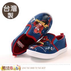 魔法Baby 男童鞋 台灣製蜘蛛人授權正版帆布鞋~sa09406