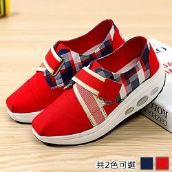 【Alice】造型格紋英倫風健走鞋