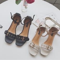 【Alice】(現貨+預購)英倫格調魚口粗跟涼鞋