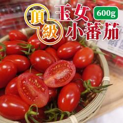 坤田水果 頂級王樣嚴選溫室玉女小蕃茄(3盒)單盒600克