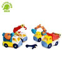 Playful Toys 頑玩具 益智拆裝工程車 6808 (趣味DIY 螺絲拆卸玩具 挖土車玩具 組裝車車 卡通工程車 小年齡兒童玩具)