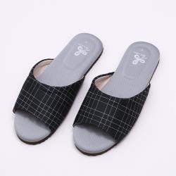 【維諾妮卡】生活品味乳膠室內拖鞋-黑