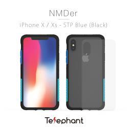 太樂芬Telephant iPhone X/XS  抗汙防摔手機殼-黑聖保羅藍