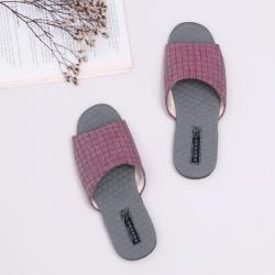 【維諾妮卡】方格竹炭機能乳膠室內拖鞋-紅