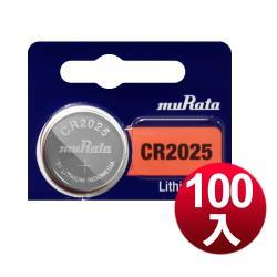 muRata 公司貨 CR2025 / CR-2025 鈕扣型鋰電池(100顆入)