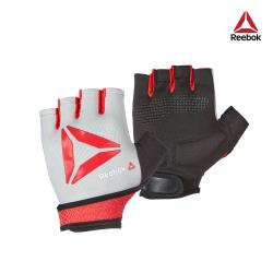 Reebok - 防滑短指訓練手套(紅S-L) RAGB-15533