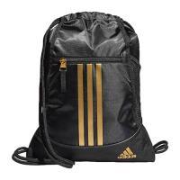 Adidas 2020時尚聯盟黑金色拉鍊款抽繩後背包