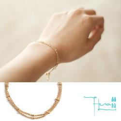Hera 赫拉 精美雙層豆豆珠鍊合金手鍊-2色