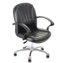GXG 短背皮面 電腦椅 鋁合金腳  TW-1011 LU