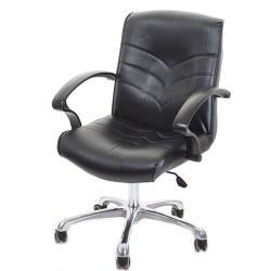 GXG 短背皮面 電腦椅 可後躺/鋁合金腳 TW-1007 LUK