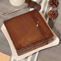 【艾波索】巧克力黑金磚方形(6吋x1入) |蘋果日報蛋糕評比冠軍|母親節、情人節推薦