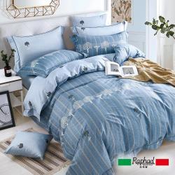 Raphael 拉斐爾 非凡 純棉加大四件式床包兩用被套組