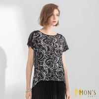 MONS優雅法式蕾絲質感上衣