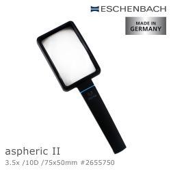 【德國 Eschenbach】3.5x/10D/75x50mm aspheric II 德國製手持型非球面放大鏡 2655750