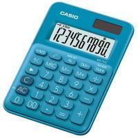 【CASIO】 10位元馬卡龍輕巧桌上計算機(MS-7UC-BU)-俏藍莓
