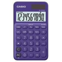 【CASIO】 10位元馬卡龍輕巧口袋型計算機(SL-310UC-PL)-葡萄紫