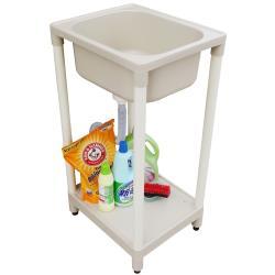 新式小型單槽塑鋼水槽 洗衣槽 洗手台 1入