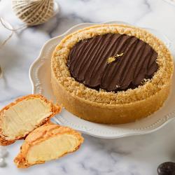 【艾波索】比利時巧克力乳酪(6吋x1入)贈冰心泡芙1入 |蘋果日報蛋糕評比冠軍|母親節蛋糕限定
