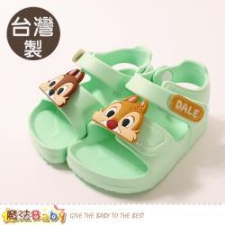 魔法Baby 男女童鞋 台灣製迪士尼松鼠奇奇蒂蒂授權正版極輕涼鞋~sd3049