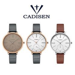 CADISEN卡迪森 C-6135 極簡歐美風小秒設計皮帶手錶