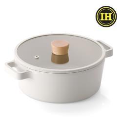 NEOFLAM FIKA系列 22cm 鑄造不沾雙耳湯鍋(IH、電磁爐適用)