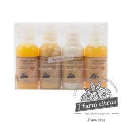 韓國 Jfarm citrus 低溫菁萃濟洲島柑橘洗潤沐浴旅行組 (50ml×4款/組)