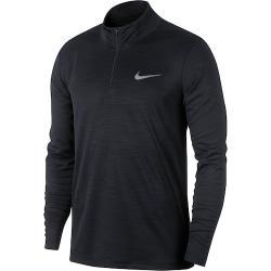 Nike 2020男時尚Superset四分之一拉鍊黑色長袖ㄒ恤