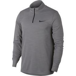 Nike 2020男時尚Superset四分之一拉鍊煙灰色長袖ㄒ恤