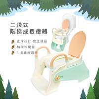 晉易 兒童/幼兒兩段式成長坐便器 學習便器 階梯馬桶便器