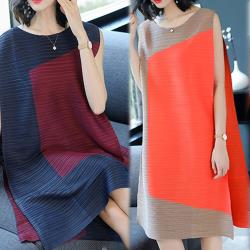 歐風KEITH-WILL (預購)不規則原創設計壓折洋裝