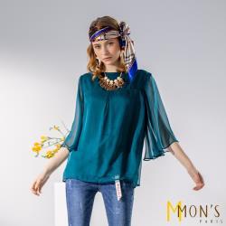 MONS100%蠶絲訂製精品冰肌兩穿上衣組
