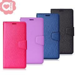 Samsung Galaxy A40s 月詩蠶絲紋時尚皮套 多層次插卡功能 表面特殊處理  防刮耐磨 側掀磁扣手機殼/保護套 多色可選