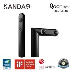 QooCam 4K 360°3D 全景相機攝影機+ 原廠自拍桿 + 原廠三腳架 / KANDAO 看到科技