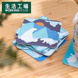 【生活工場】GiftConcept白熊雙面紙杯墊8入組