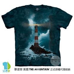 摩達客(預購)美國進口The Mountain 無畏燈塔 純棉環保藝術中性短袖T恤