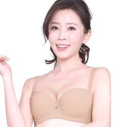 思薇爾 QQ Bra系列B-E罩1/2罩素面無痕模杯包覆內衣(親膚色)