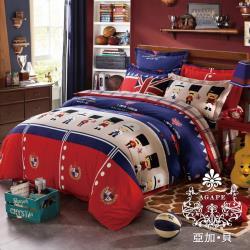 AGAPE亞加‧貝 MIT台灣製-皇家守衛 舒柔棉雙人6x7尺薄被套(百貨專櫃精品)