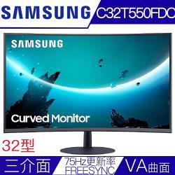 【SAMSUNG三星】C32T550FDC 32型VA曲面FREESYNC電競液晶螢幕