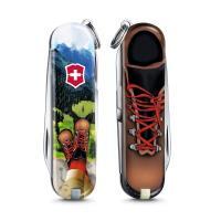 VICTORINOX 瑞士維氏限量迷你7用印花瑞士刀-我愛登山 06223.L2002