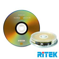 RITEK錸德 8X DVD+R DL 8.5GB X版/30片布丁桶裝