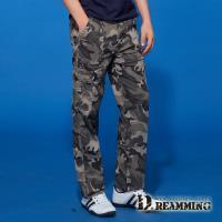 【Dreamming】夏日薄款迷彩伸縮休閒工作長褲 工裝褲(共二色)