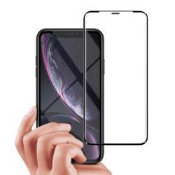 City Boss for iPhone XR 6.1吋無孔防塵防水滿版鋼化玻璃貼