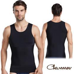 Charmen 360度加壓收腹高彈背心 男性塑身衣(兩色任選)