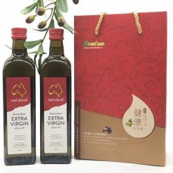 【red island 紅島】澳洲特級冷壓初榨橄欖油500ml雙入禮盒組