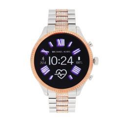 Michael Kors MKT5081晶鑽玫瑰金多功能智慧型鋼帶手錶