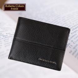(Roberta Colum)諾貝達 男用專櫃皮夾 進口軟牛皮短夾(25002二色可選)