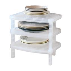 日本製造SANADA可疊放碗盤收納架3入裝(需自行組裝)