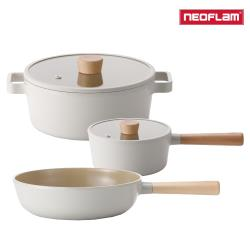 NEOFLAM FIKA系列 鑄造不沾3鍋組(IH、電磁爐適用)