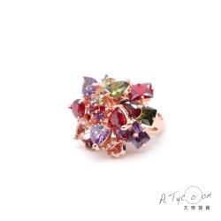 【A Tycoon Jewelry】閃耀女神彩晶戒(K0023)