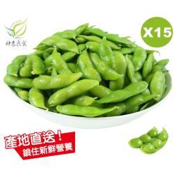【神農良食】農業奧斯卡原味毛豆_15包組_(400公克±10公克/包)